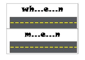 Race Car Reading Words short e