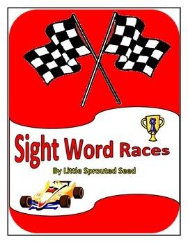 Race Car Sight Words