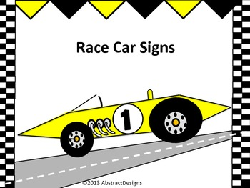 Race Car Signs