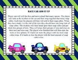 Race Car Tens and Ones