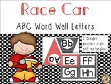 Race Car Theme ABC Word Wall Letters
