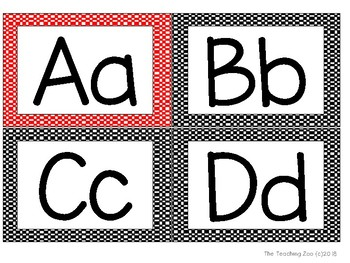 Race Car Theme ABC Word Wall Letters