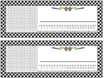 Race Car Theme Calendar Bulletin Board Set and Name Tags