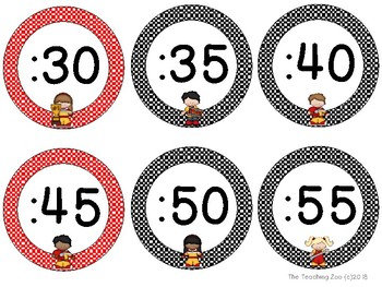 Race Car Theme Clock Tags & Labels