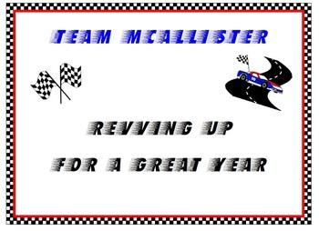 Race Car Theme for Classroom