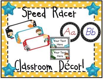 Race Car Themed Classroom Decor