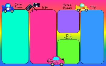 Race Car Themed Dektop Organizer