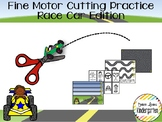 Race Car Themed Fine-Motor Practice for Cutting / Tracing