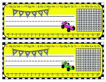 Race Car Themed Nameplates