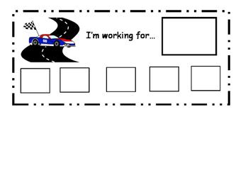 Race Car Token Boards
