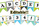 Race Car themed EDITABLE bulletin board banner
