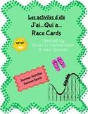 Race Cards - Les activités d'été  J'ai, Qui a