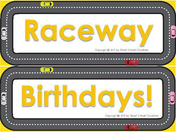 Race Care Birthday Decor Set