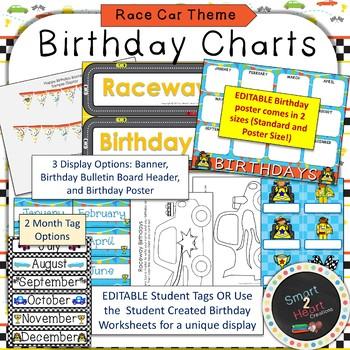Race Car Birthday Decor Set