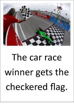 Race Cars. A LOOK BOOK Easy Reader