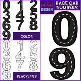 Race Cars Clip Art - Race Cars Numbers {jen hart Clip Art}
