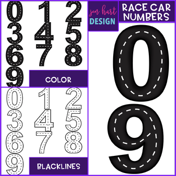 Race Cars Clip Art Race Cars Numbers By Jen