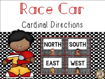 Race Cars Theme Cardinal Directions Signs