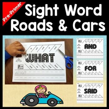 Kindergarten Literacy Centers with Cars and Parking Lots {40 Words!}