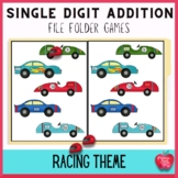 File Folder Games: Race Day Addition Facts