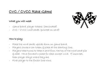 Race Game CVC / CVCC