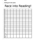Race Into Reading Graph (Editable)