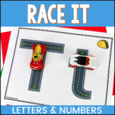 Race It Alphabet and NumberFine Motor Skills Activities