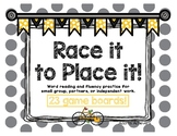 Race It to Place It Word Reading Speed Game