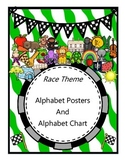 Race Theme - Alphabet Posters and Alphabet Chart