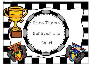 Race Theme - Behavior Clip Chart