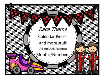 Race Theme - Calendar Cards and More Stuff