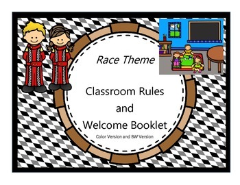 Race Theme - Classroom Rules and Welcome Booklet {Back to School}