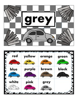 Race Theme - Color Posters and Color Chart