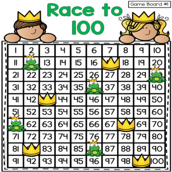 Race To 100: A Counting Game to 100 Including +10/-10