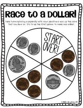 Race To A Dollar! {Counting Coins Freebie!}