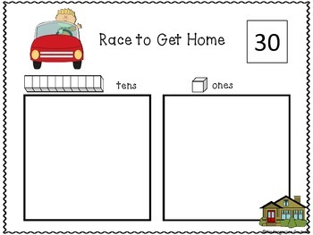 Race To Get Home - place Value