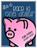 Race To One Dollar - Math Money Simple Center