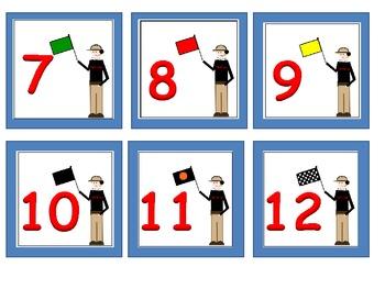 Race Track Calendar Numbers