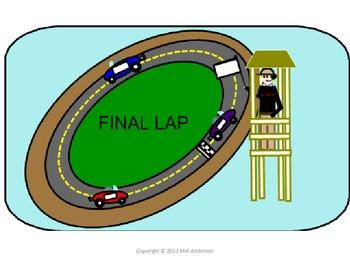 Race Track Clip Chart