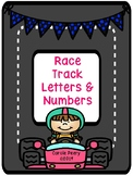 Race Track Letters and Numbers Practice