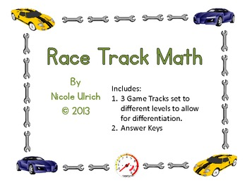 Race Track Math Game