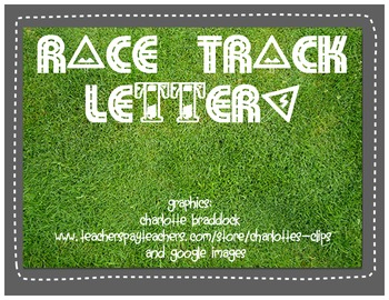 Race Track Tracing Letters