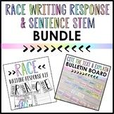 Race Writing Response & Sentence Stem BUNDLE