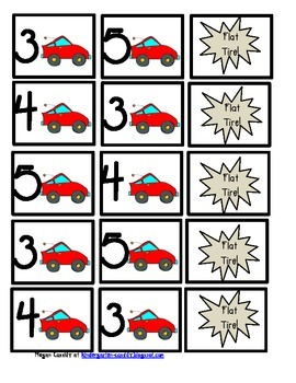 Race and Build- Transportation Number Recognition Game