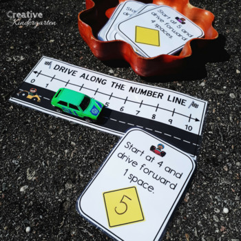 Race and Drive Along the Number Line Addition and Subtraction Task Cards