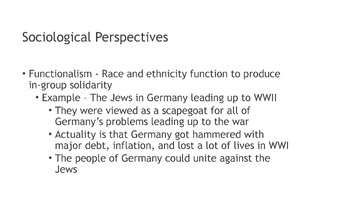 Race and Ethnicity Theoretical Perspectives PowerPoint and Guided/Completed Note