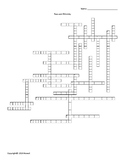 Race and Ethnicity Vocabulary Crossword for Sociology