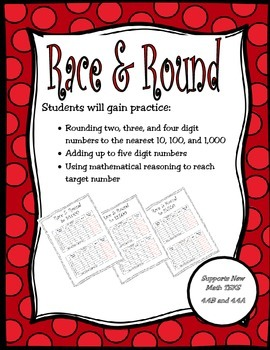 Race and Round: Rounding to 10's, 100's, and 1,000's (New