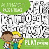 Alphabet Race and Trace Worksheets (NO PREP) - Spin, Read and Write