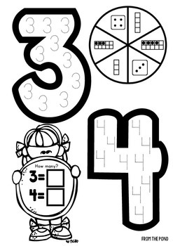 Numbers - Race and Trace Worksheets  - Spin, Read and Write